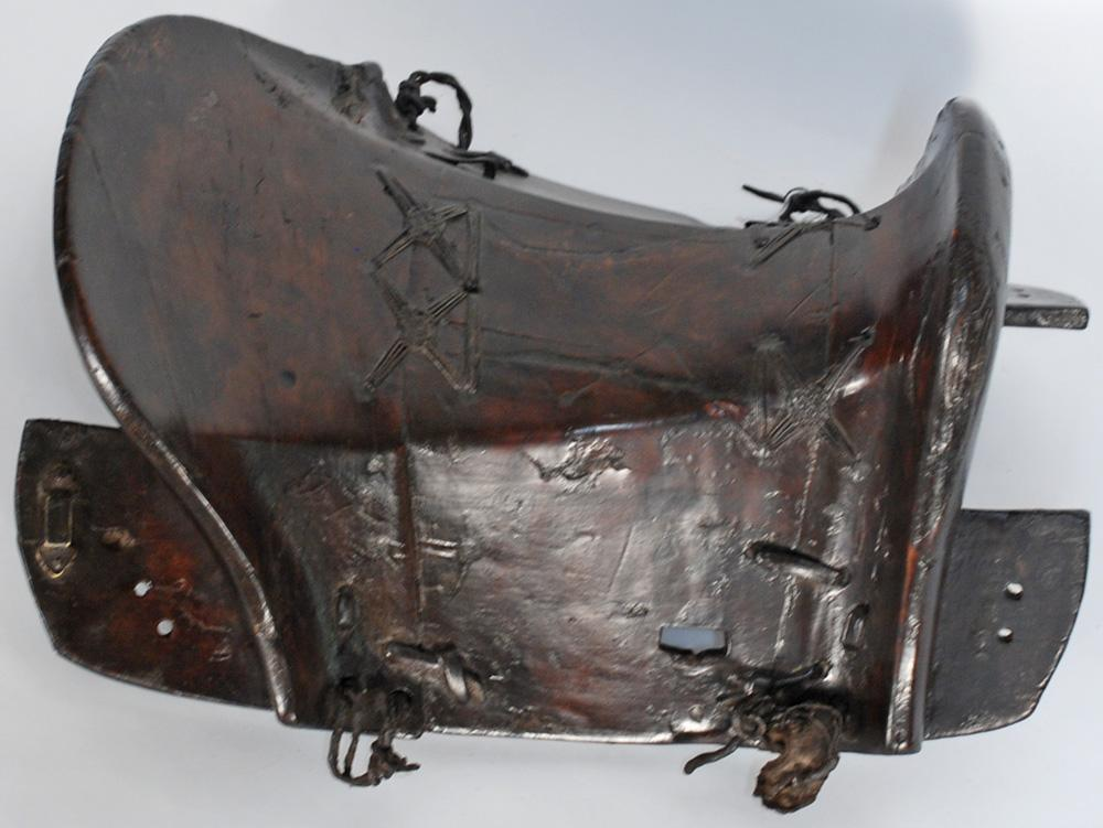 Chinese Antique Wooden and Leather Saddle