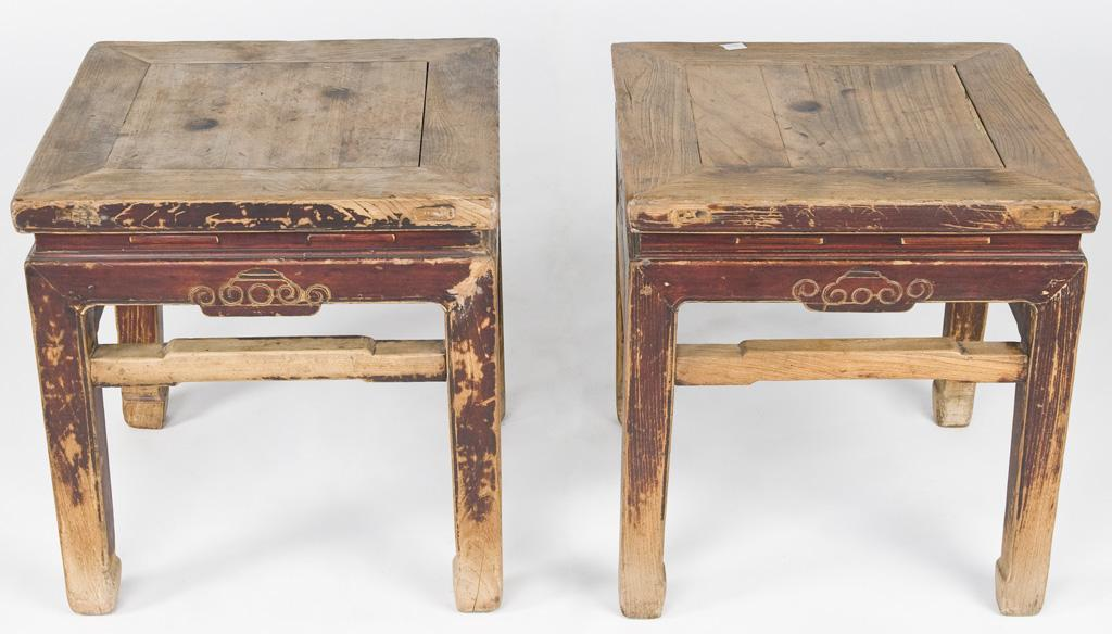 Antique Asian Stools