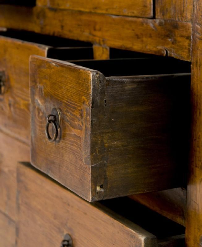 Antique Rustic Mongolian Cabinet
