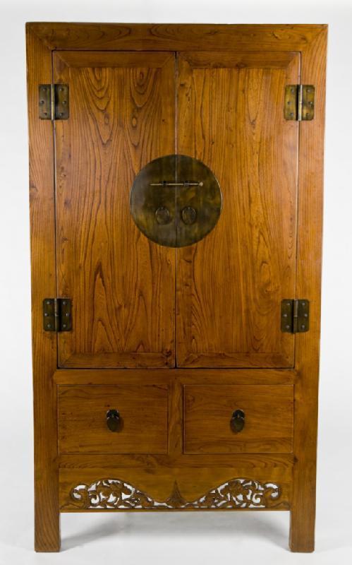 Antique Asian Armoire Cabinet