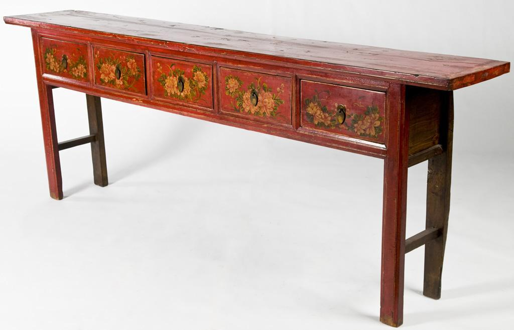 Antique Mongolian Console Table (Sofa Table - Altar Table - Hall Table)