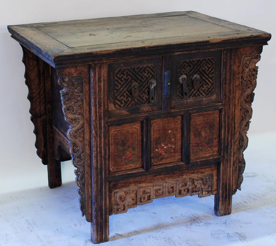 Antique Chinese Locking Coffer Cabinet
