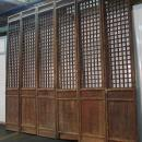 Antique Chinese Set of 6 Wooden Tall Lattice Doors