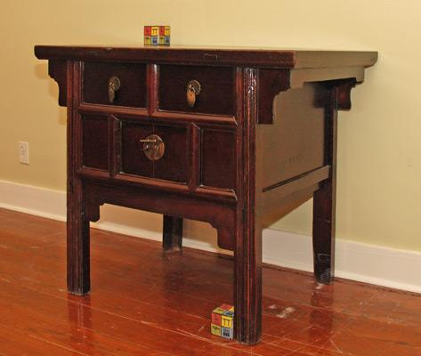 Small table with two doors, two drawers