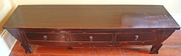 Large Kang Style Coffee Table With Three Drawers