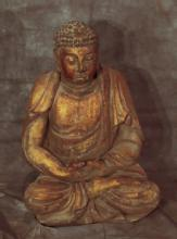 Carved Wooden Buddha Statue