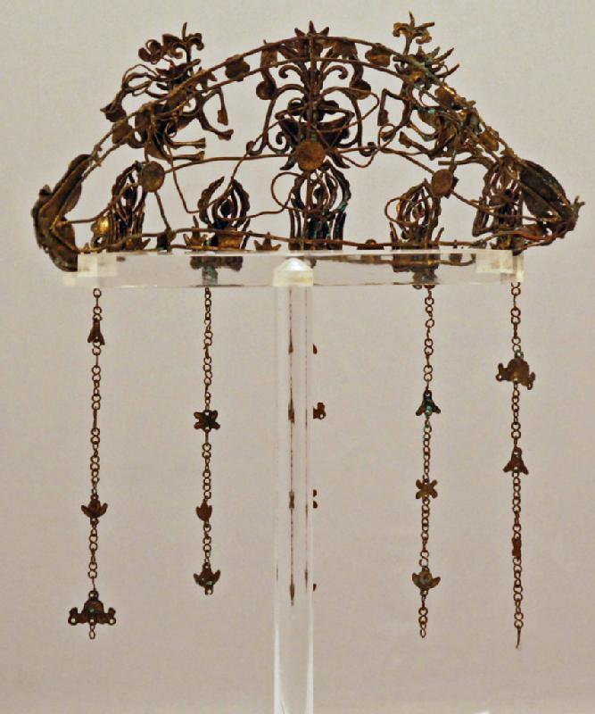 Late 19th Century Chinese Lady's Gilt Tiara