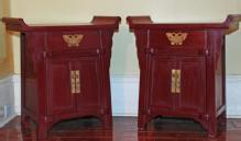 Small Pagoda-Top Cabinets