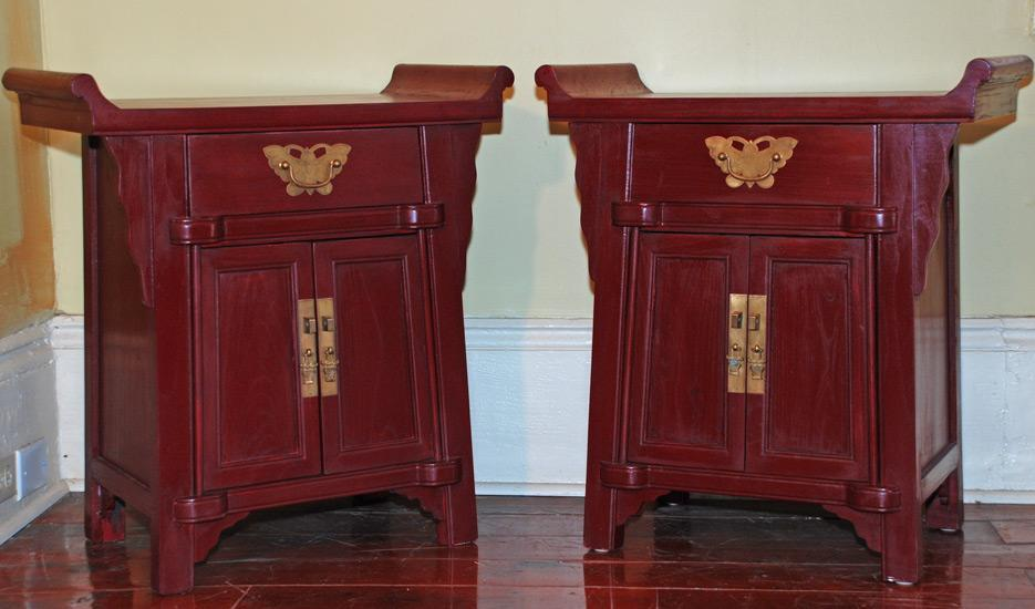 Small Pagoda-Top Cabinets