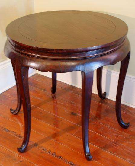 Round Yew Wood Table
