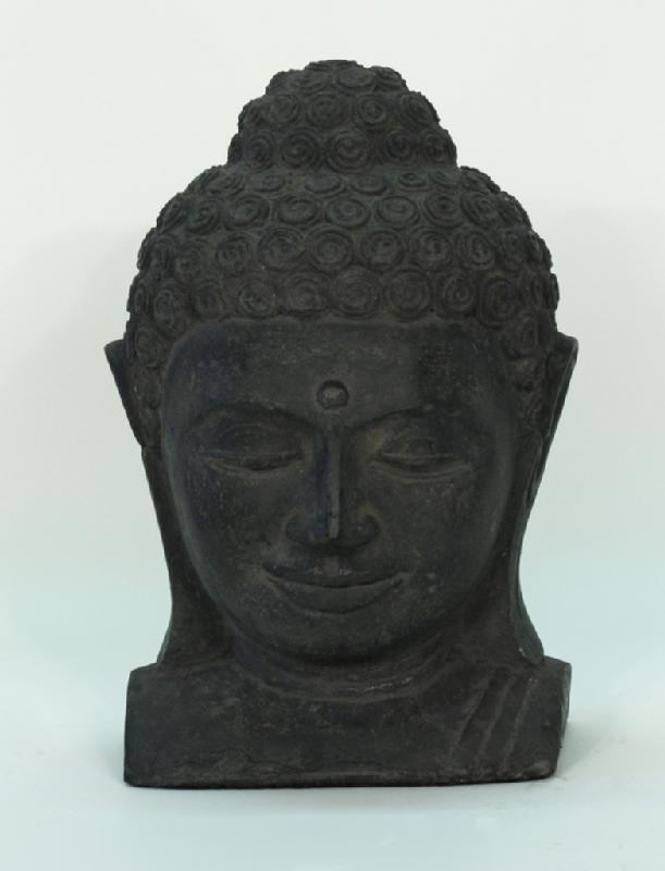 Stone Buddha Head Bust