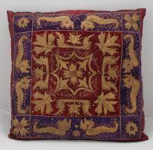 Designer Decorative Pillow Throw Blue (Decorative Pillow Covering from Indonesia)