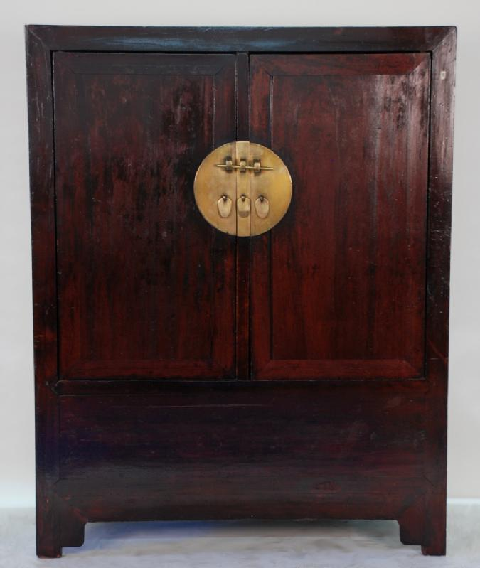 Antique Chinese Ming Style Two Door Large Cabinet