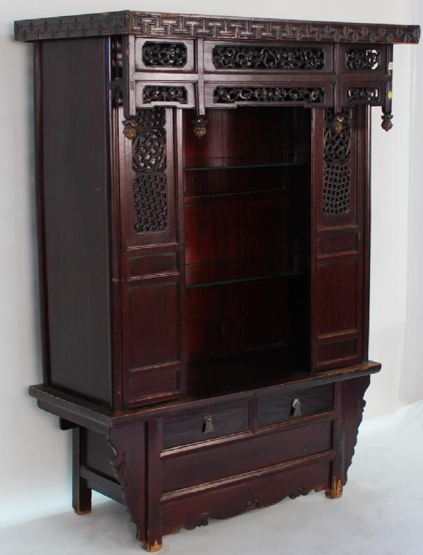 Antique Chinese Shrine Cabinet  or Display Cabinet
