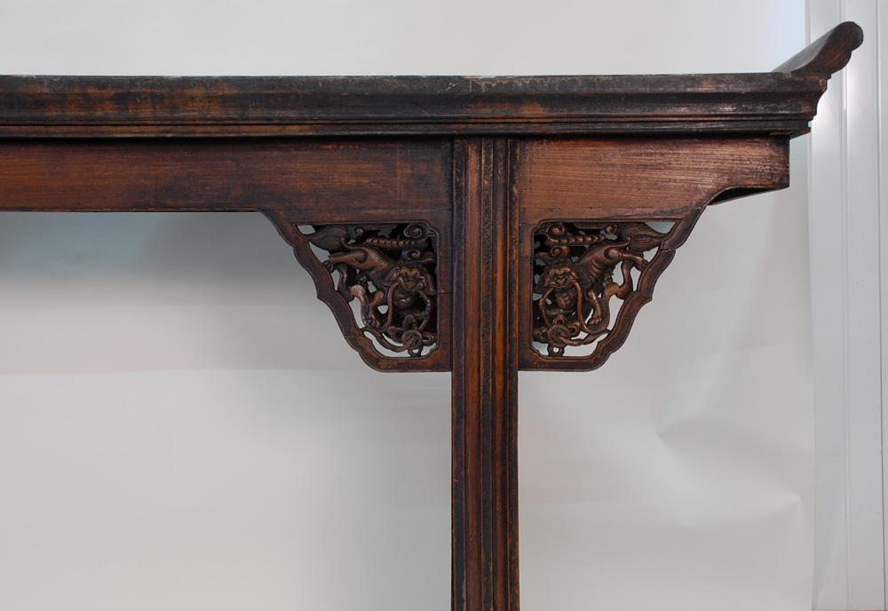 Large Carved Antique Chinese Altar Table