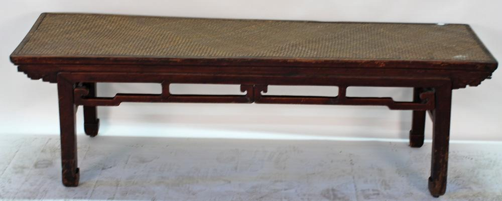 Antique Chinese Ta Bed or Day Bed with Mat Top