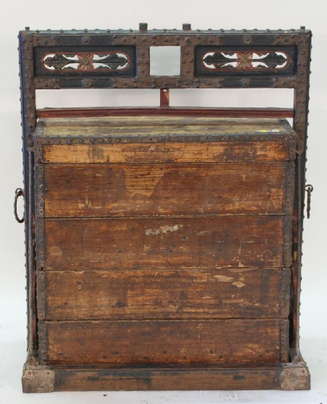 Chinese Antique Wedding Carrying Box
