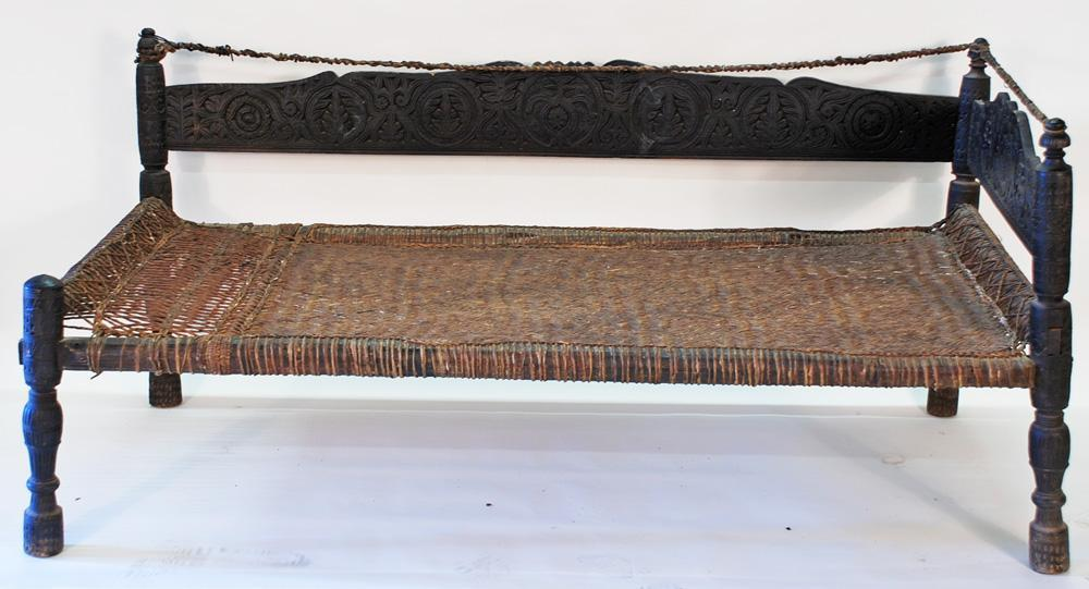Antique Bed from Swat Valley, Pakistan