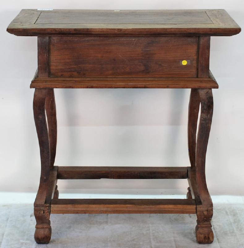 Philippines Antique Altar Mesa Table with Bone Inlay