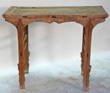 Antique Chinese Side Table or Sword Leg Table