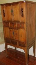Antique Chinese Kitchen Cabinet, 4-Doors and 6-Drawers