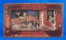 Painted Carved Bed Panel