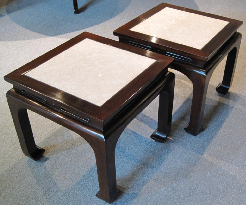 Pair of Ming Style Rosewood Tables