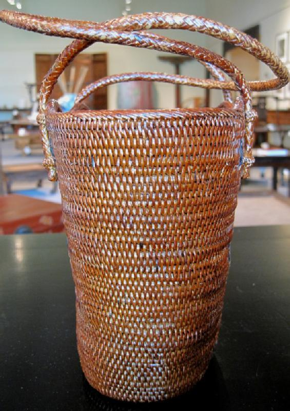 Small Floral Bali Basket