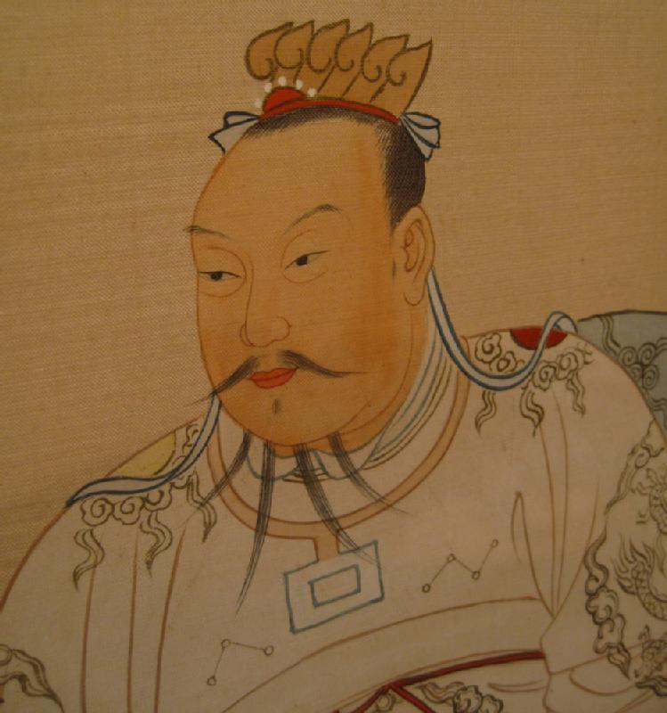 Pair of Framed Ancestor Portraits on Silk