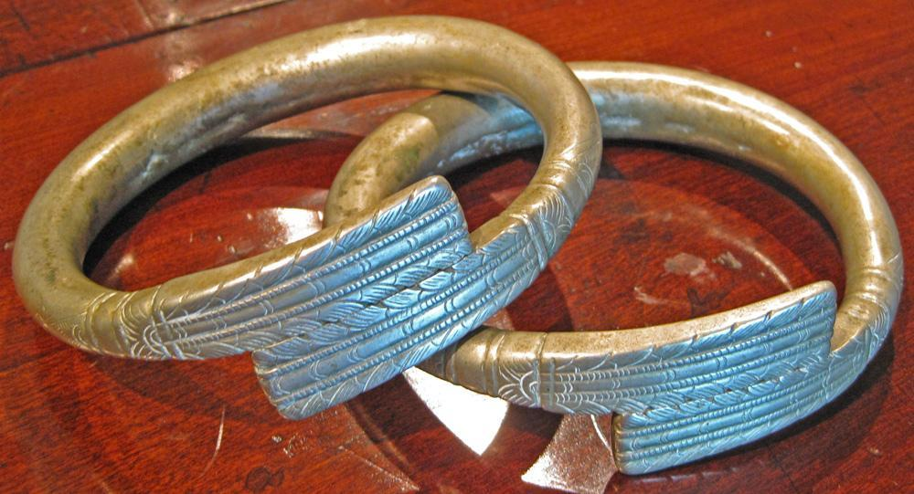 Pair of Hmong-Mien Ceremonial Bangles