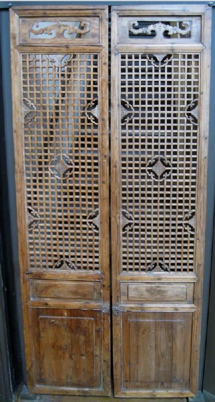 Pair of Antique Chinese Doors