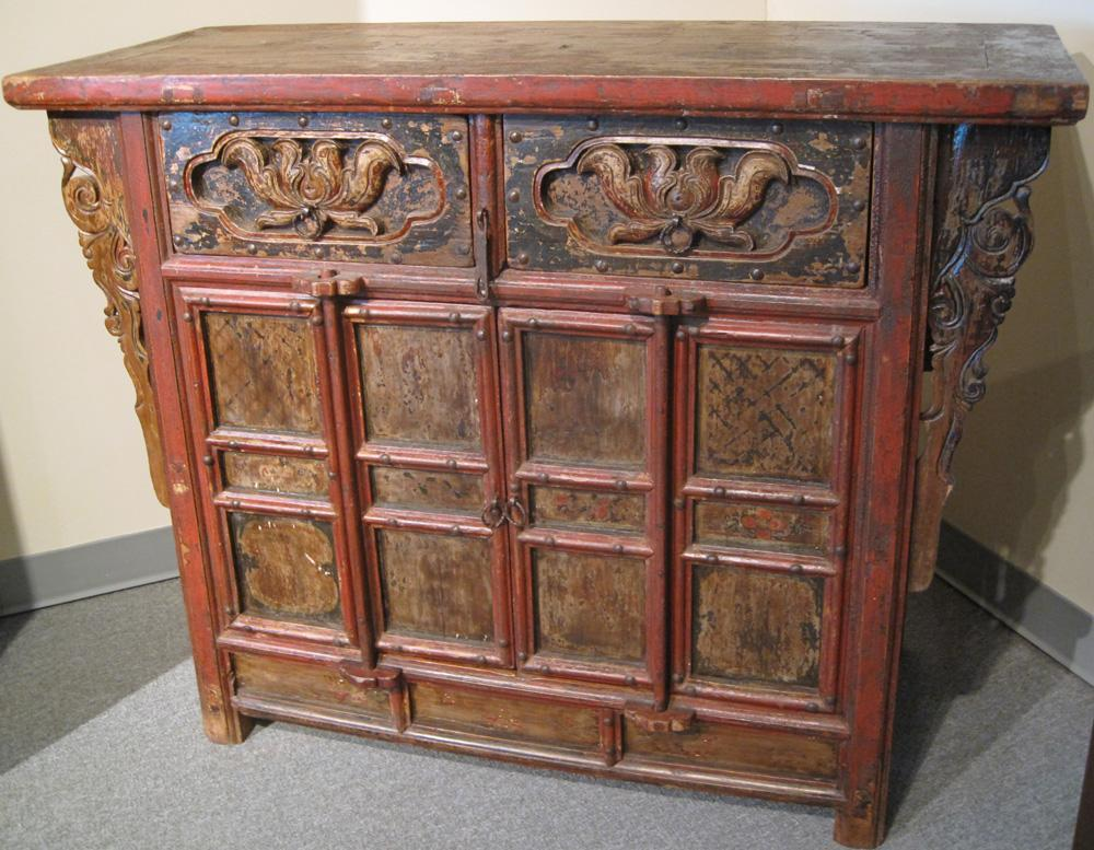 Antique Chinese Locking Cabinet