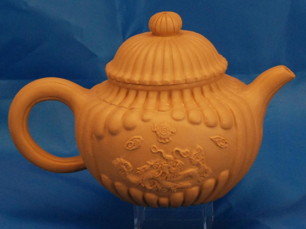 Chinese Yixing Duanni Porcelain Dragon Teapot