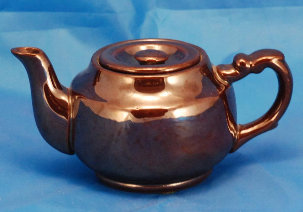 Brown Glazed Teapot from Occupied Japan