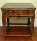 Early Qing Dynasty Antique Chinese Game Table Square Top, 2-Drawers