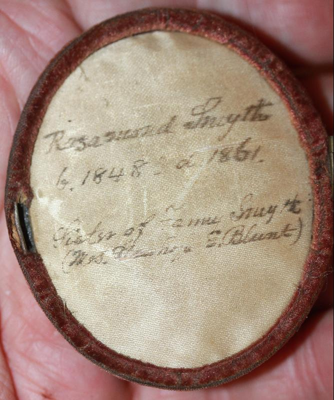 Godfred Miller NY Miniature on Ivory Rosamund Miller 1861 in case