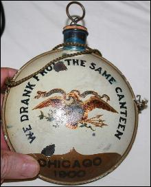 1900 GAR Encampment Canteen Tole with Eagle Chicago from Civil War Vetern