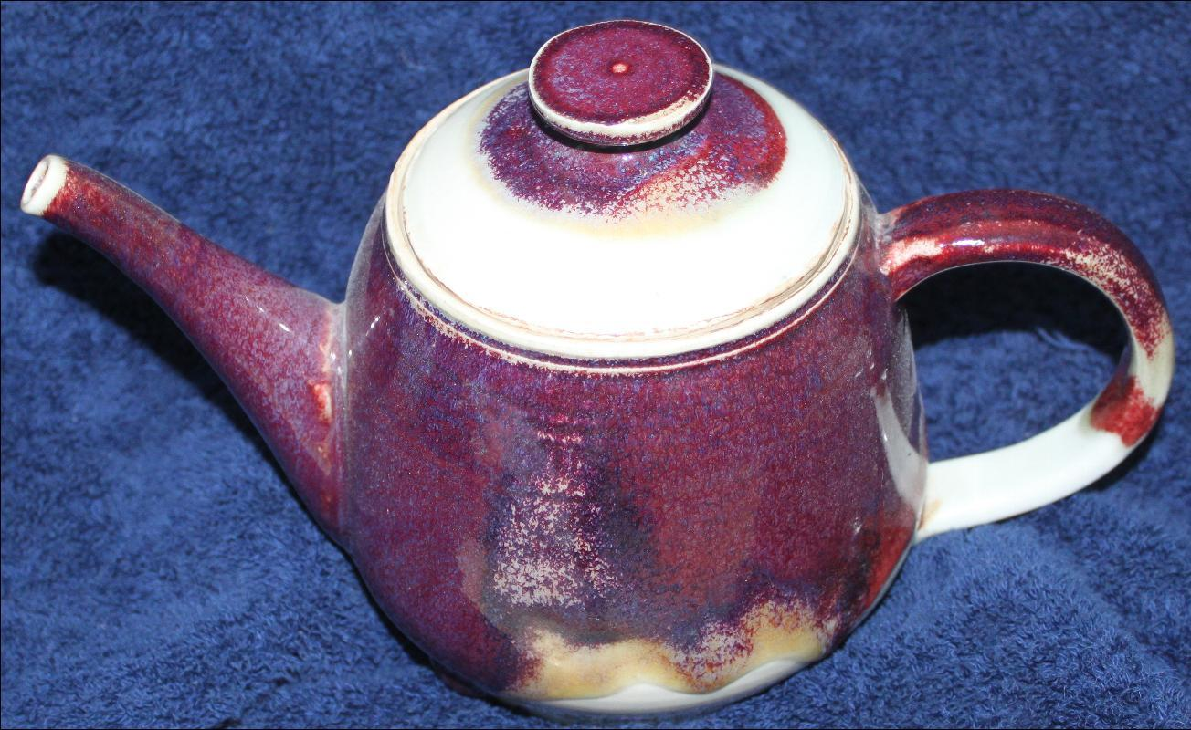 Murray Signed earthenware vintage teapot