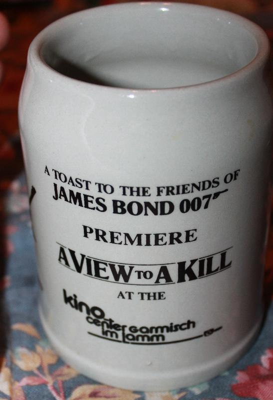 James Bond 007 A view to a Kill Opening night German Beer Mug Mai 1985