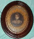 First Lady Francis Cleveland Tricora sunflower Corset Advertisementin frame