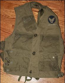 WWII Army Air Force Type C1 3206 Pilots Survival Vest unused, from special forces soldier