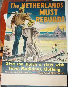 WWII Poster The Netherlsnds Must Rebuild