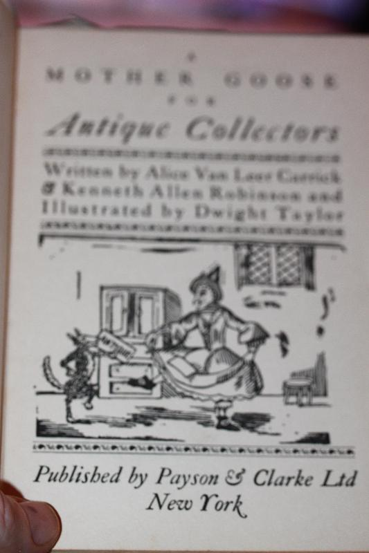 A Mother Goose for Antiques Collectors