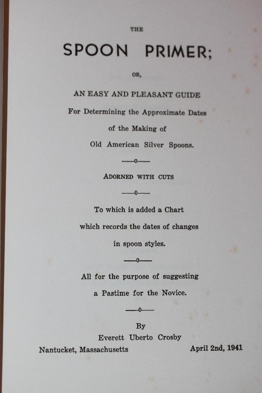 The Spoon Primer 1941 Fist Edition Signed Evrett Crosby