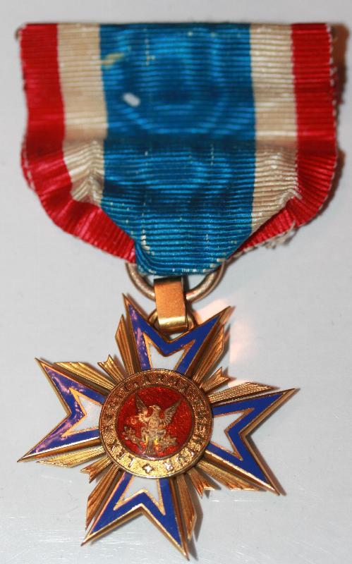 Mollus Civil War Association Gold Memberes Medal with Ribbon