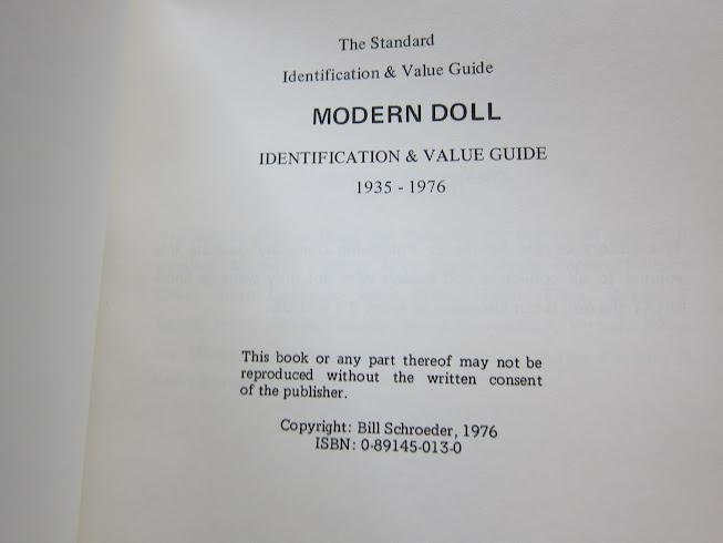 The Standard Modern Doll Identification and Value Guide