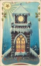 Christmas embossed postcard, H. Wessler, 1910