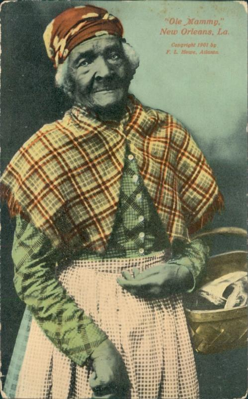Vintage postcard, Ole Mammy, New Orleans, F.L. Howe, 1901