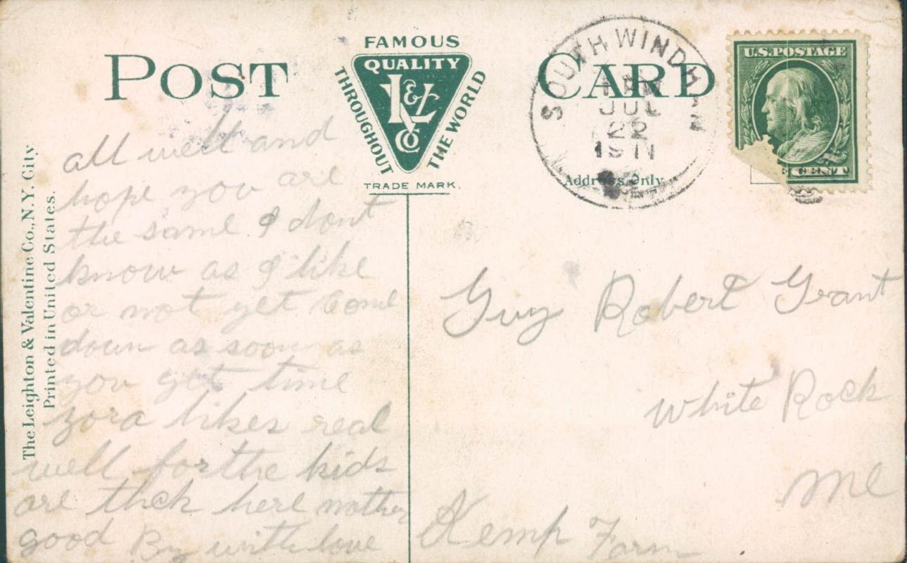 Vintage postcard, Cape Elizabeth