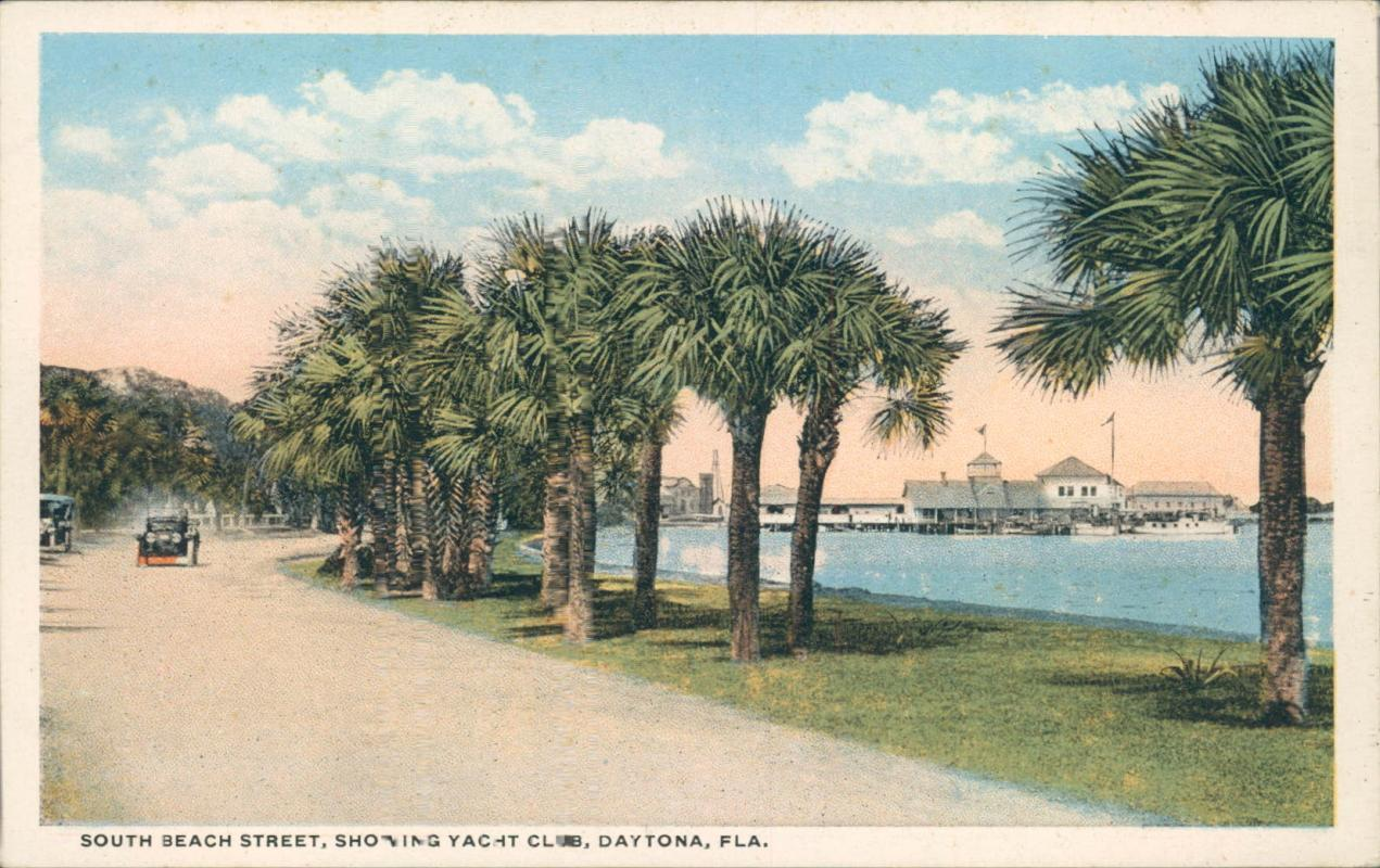 Vintage postcard, South Beach Street, Daytona Florida, Florida Artistic Series